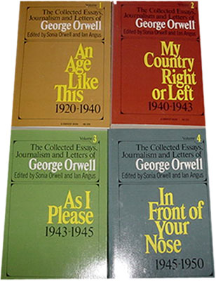he collected essays journalism and letters of george orwell Find the collected essays, journalism and letters by orwell, george at biblio uncommonly good collectible and rare books from uncommonly good booksellers.