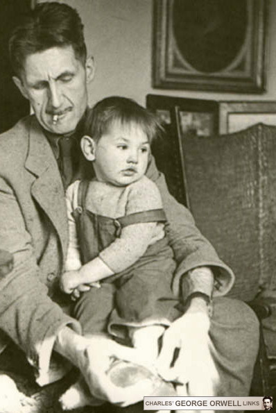 Orwell and his adopted son Richard (1946)